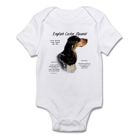 Parti Roan English Cocker Infant Bodysuit