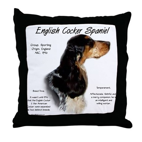 Parti Roan English Cocker Throw Pillow