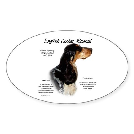 Parti Roan English Cocker Oval Sticker