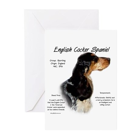 Parti Roan English Cocker Greeting Cards (Package