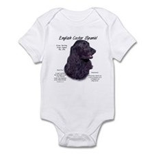 Black English Cocker Spaniel Infant Bodysuit