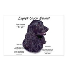 Black English Cocker Spaniel Postcards (Package of