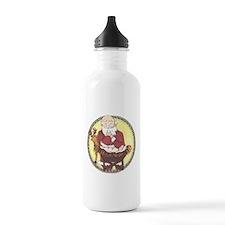 Santa & Baby Jesus Water Bottle