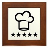 Cook chef hat Framed Tile