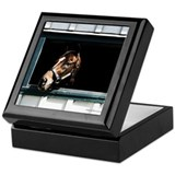Cool Thoroughbred racing art Keepsake Box