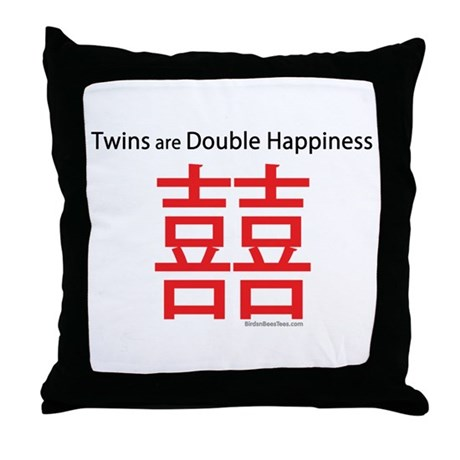 Twins are Double Happiness Throw Pillow