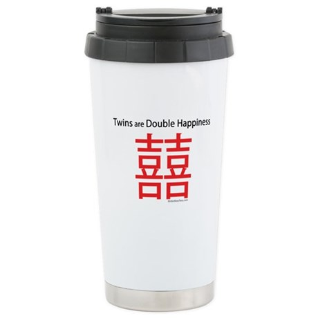 Twins are Double Happiness Ceramic Travel Mug