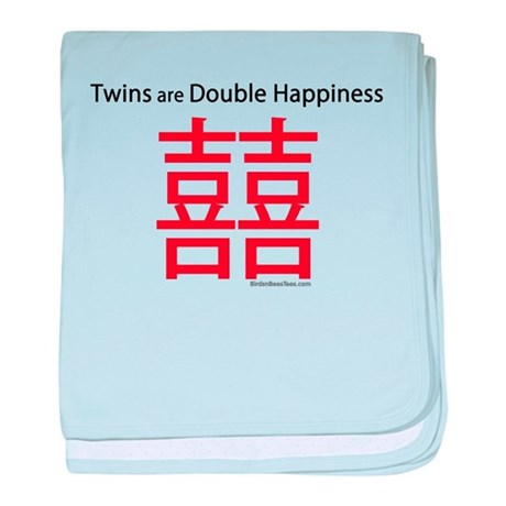 Twins are Double Happiness baby blanket