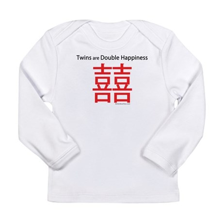 Twins are Double Happiness Long Sleeve Infant T-Sh