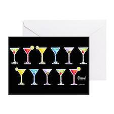 Black Martinis Greeting Cards (Pk of 10)