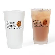 Raisin cookies trust issues Drinking Glass