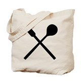 Cutlery fork spoon Tote Bag