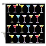Black Martinis Shower Curtain