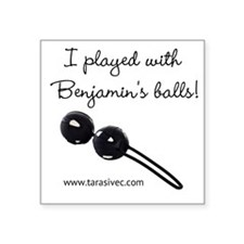 "Benjamins Balls Square Sticker 3"" x 3"""