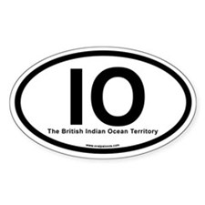 IO - The British Indian Ocean Territory (Oval)