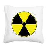 Radiation Symbol Square Canvas Pillow