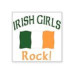 Irish girls rock (blk) T-Shirt.png Square Sticker
