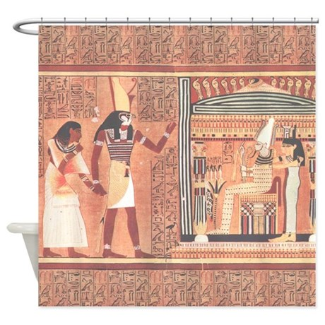 Ani papyrus egyptian shower curtain by retroranger for Bathroom designs egypt