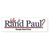 Who is Rand Paul? Bumper Sticker (50 pk)