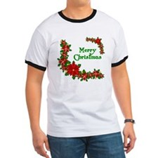 Merry Christmas Poinsettias T
