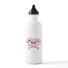 Kawaii Pink Bunny Skull Water Bottle
