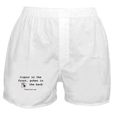 """""""liquor in the front"""" Boxer Shorts"""
