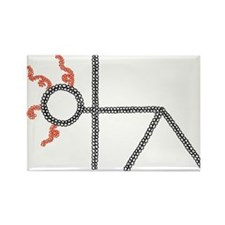 triangle yoga pose - ArtinJoy Rectangle Magnet