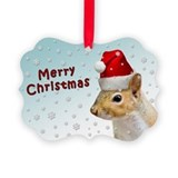 Santa Claus Squirrel Christmas Ornament