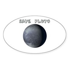 Save Pluto Oval Decal