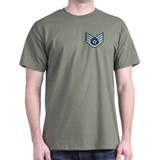 Staff Sergeant<BR> Black T-Shirt 1