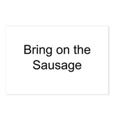Bring on the Sausage Postcards (Package of 8)