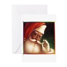Cute African american santa Greeting Cards (Pk of 10)