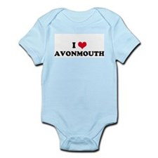 I HEART AVONMOUTH  Infant Creeper
