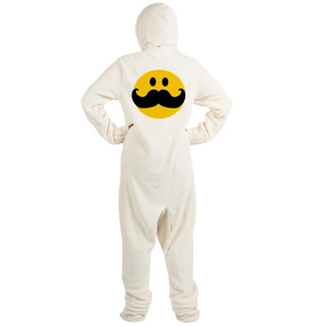 Mustached Smiley Footed Pajamas