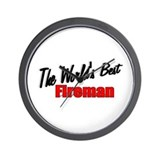 """The World's Best Fireman"" Wall Clock"