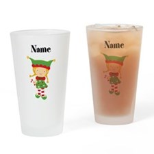 Personalized Girl Elf Drinking Glass