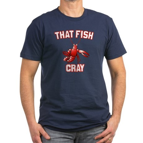 That Fish Cray Men's Fitted T-Shirt (dark)