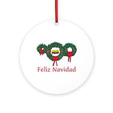 Ecuador Christmas 2 Ornament (Round)