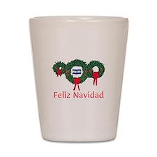 El Salvador Christmas 2 Shot Glass