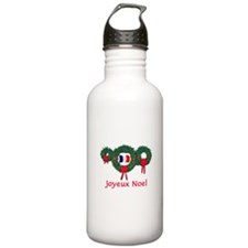 France Christmas 2 Water Bottle