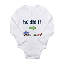 He Did It... (Right) Infant Creeper Body Suit