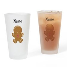 Personalized Gingerbread Man Drinking Glass