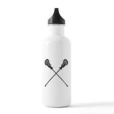 Distressed Lacrosse Sticks Water Bottle