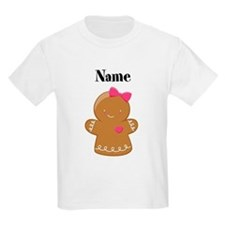 Personalized Gingerbread Girl Kids T-Shirt