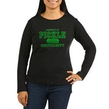 property university green pickle for black T Long