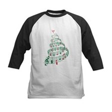 Christmas tree with music notes and heart Tee