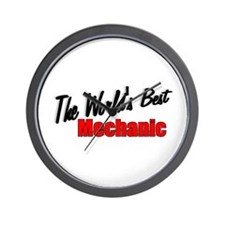"""The World's Best Mechanic"" Wall Clock"