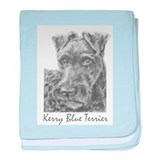 PODO Portraits -- Kerry Blue Terrier baby blanket