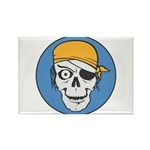 Colored Pirate Skull Rectangle Magnet