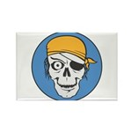 Colored Pirate Skull Rectangle Magnet (10 pack)